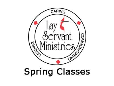 Lay Servant Ministries Spring Classes Logo